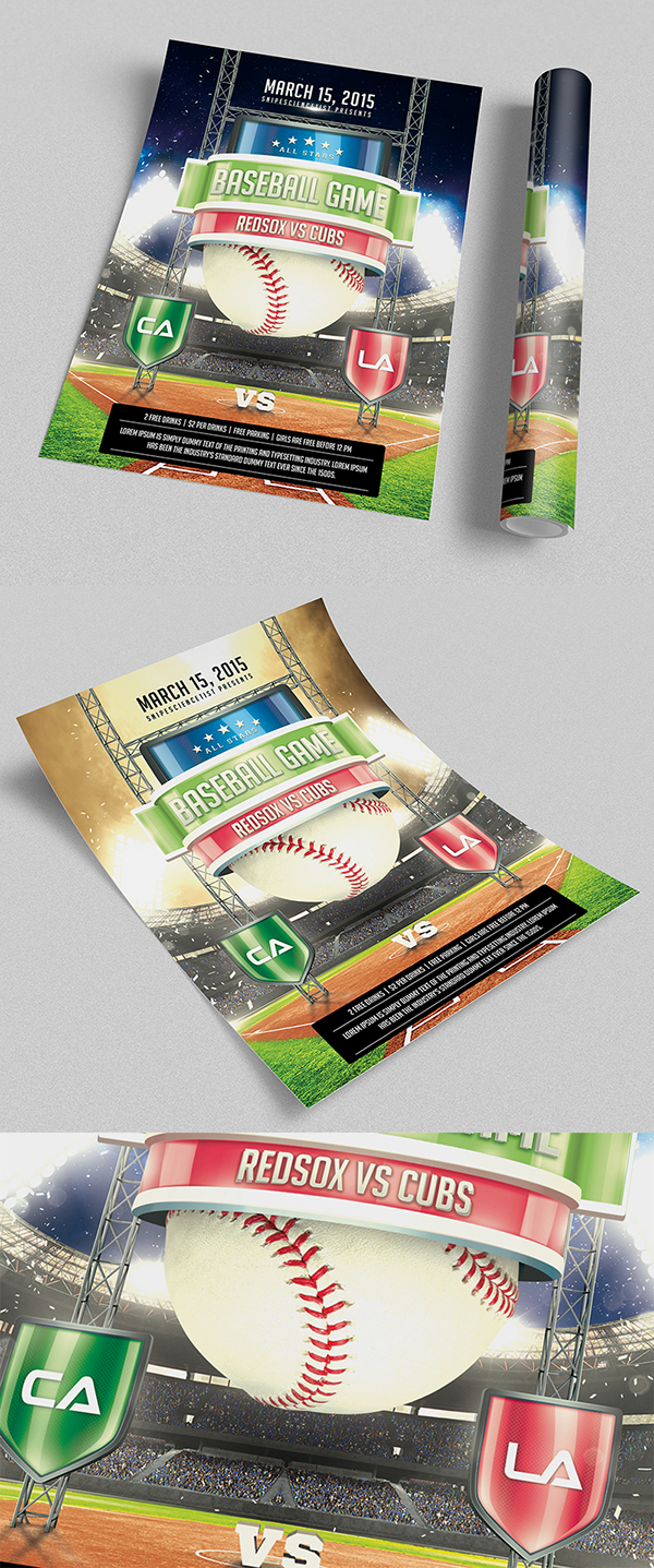 baseball game flyer template psd on behance this baseball game promotional flyer poster print templates uniquely designed to promote your baseball game event your fans and viewers