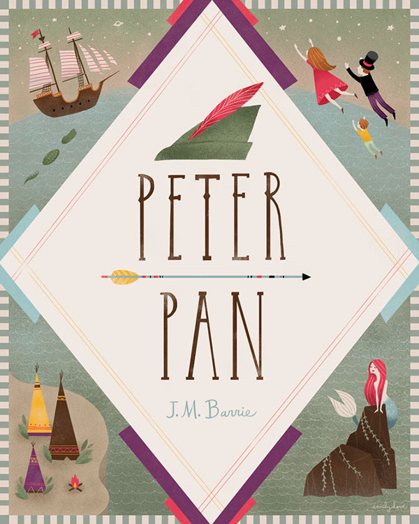 Book Cover Illustration Tumblr : Peter pan book cover on behance