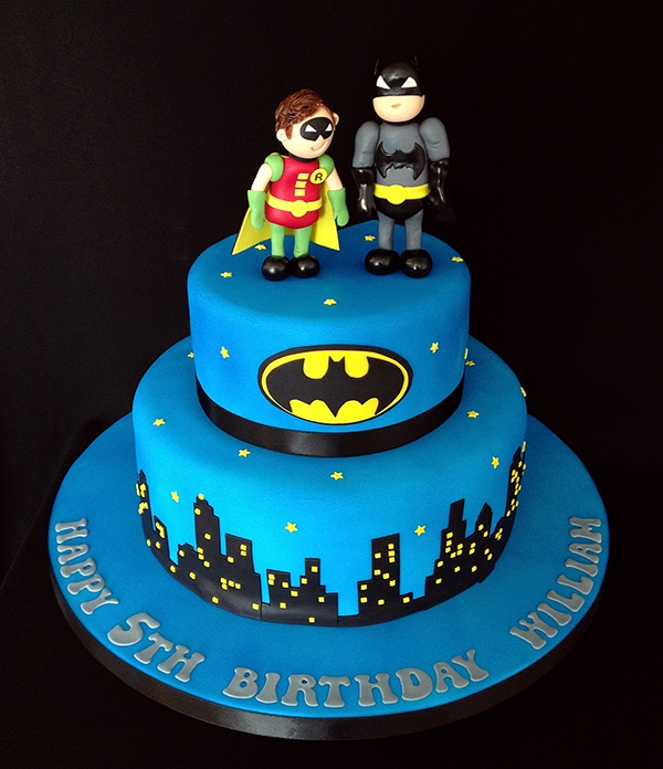 Batman And Robin Birthday Cake Toppers