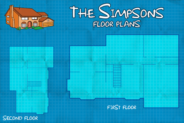 The simpsons virtual floor plan on behance for Simpsons house floor plan