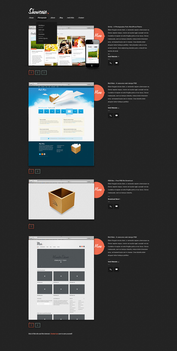 showcase a free psd template on behance