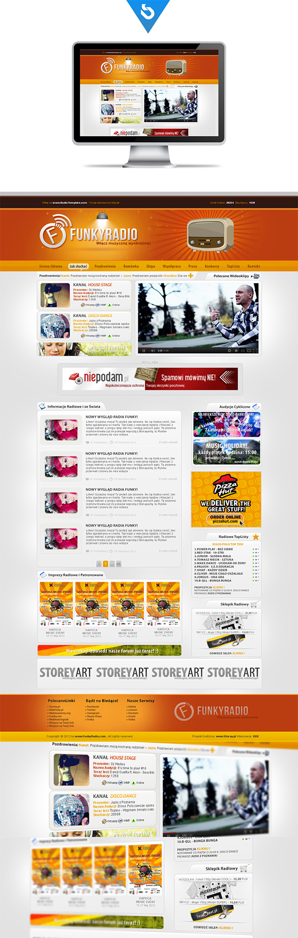 storey.pl  storeypl  radio internetowe layout dla radia layout radio internetowe projekt dla radia
