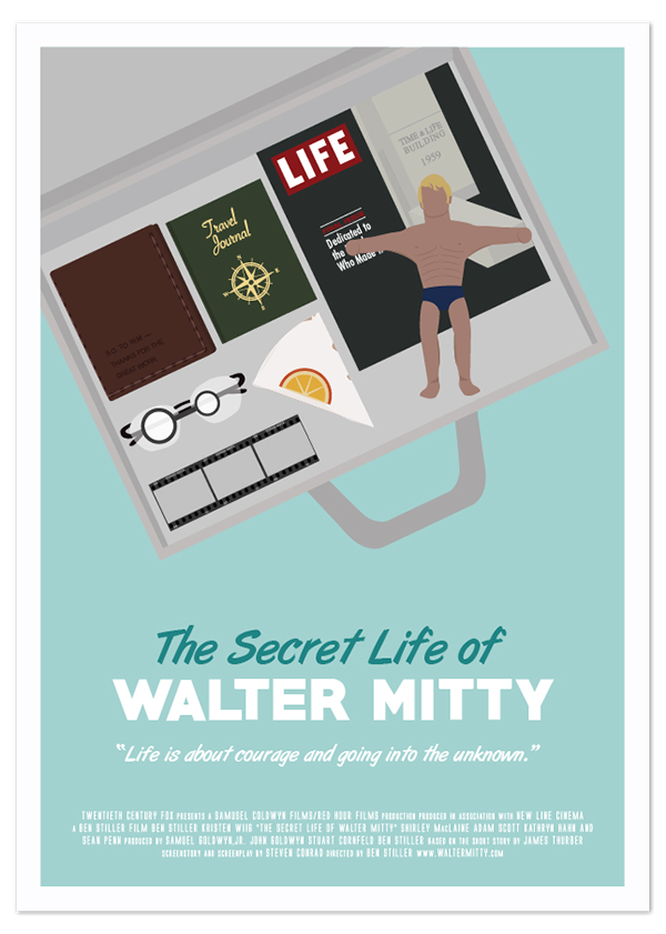 The Secret Life of Walter Mitty Movie Poster on Student Show