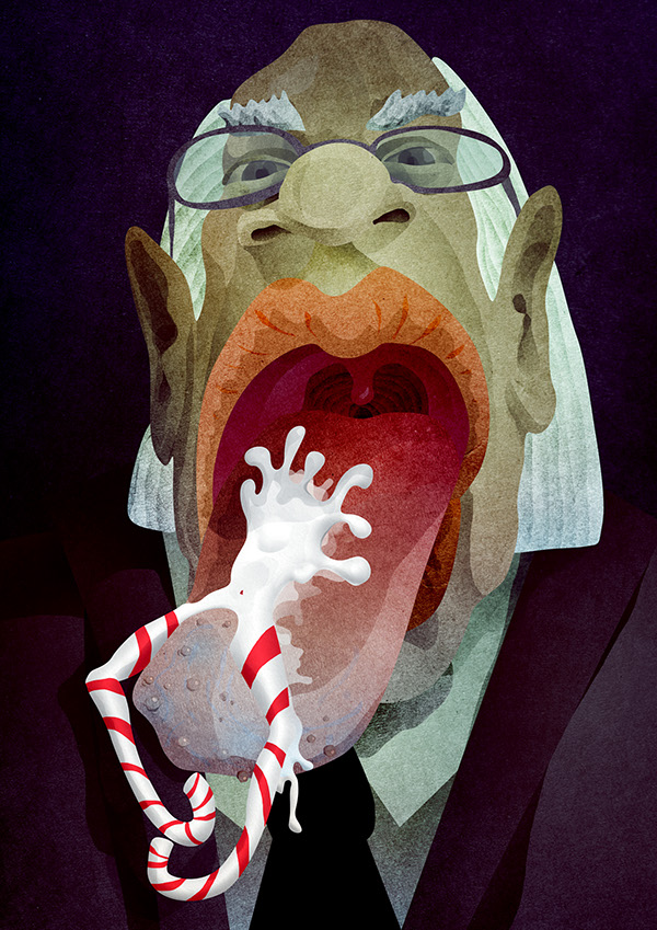 man woman Candy tong Mouth