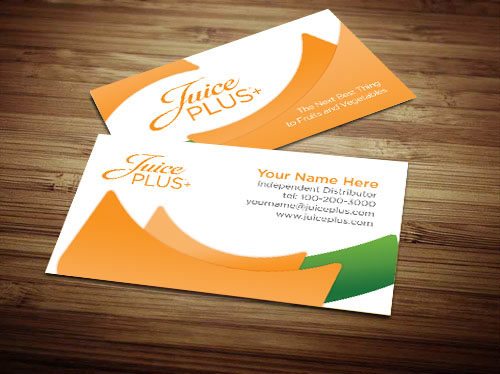 Juice Plus Business Cards On Behance