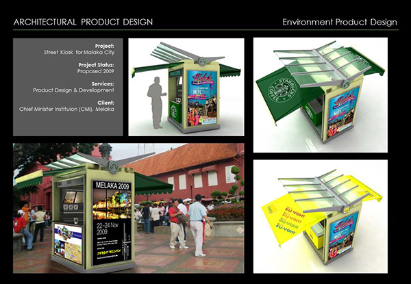 Architectural product design street kiosk on behance for Architecture kiosk design
