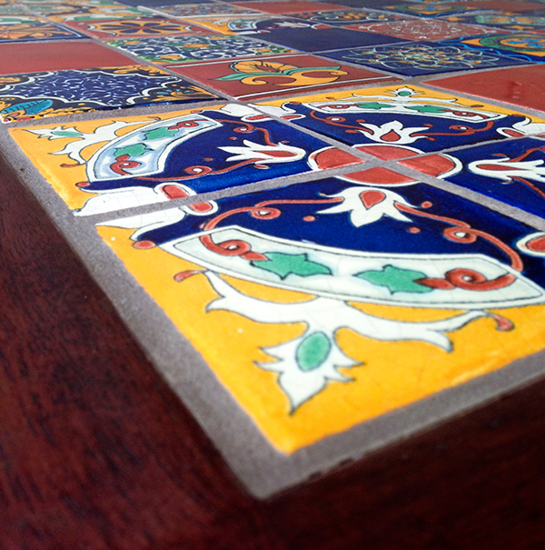 Handmade Kitchen Dining Table, Ceramic Mexican Tiles On Behance