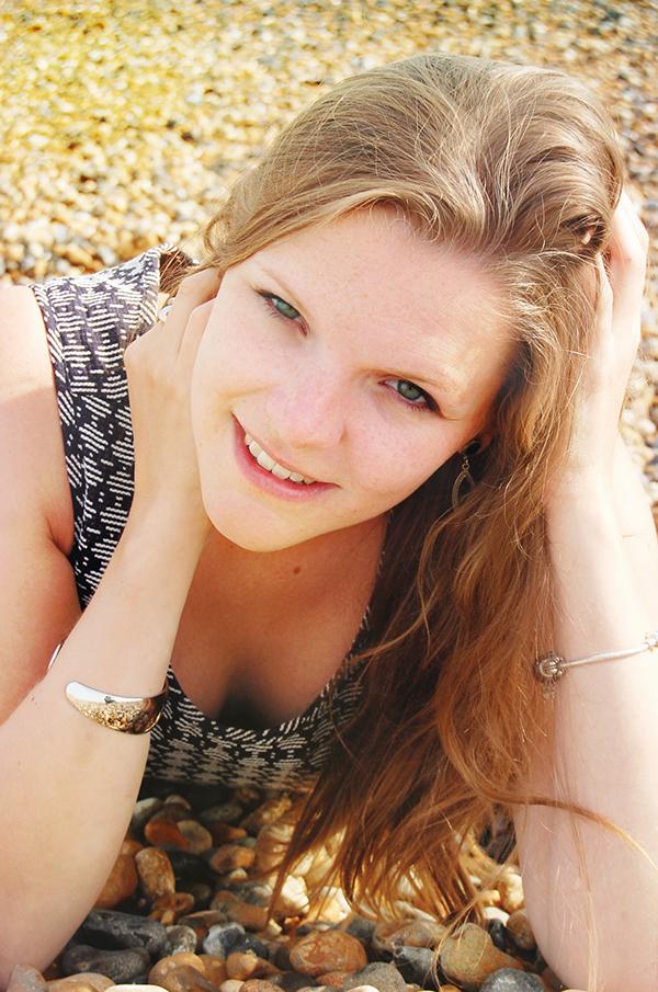 beauty Seaside brighton UK beach Sun portrait summer