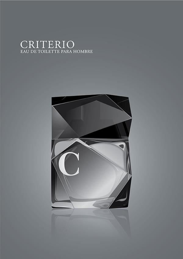 Criterio eau de toilette hombre men perfume bottle