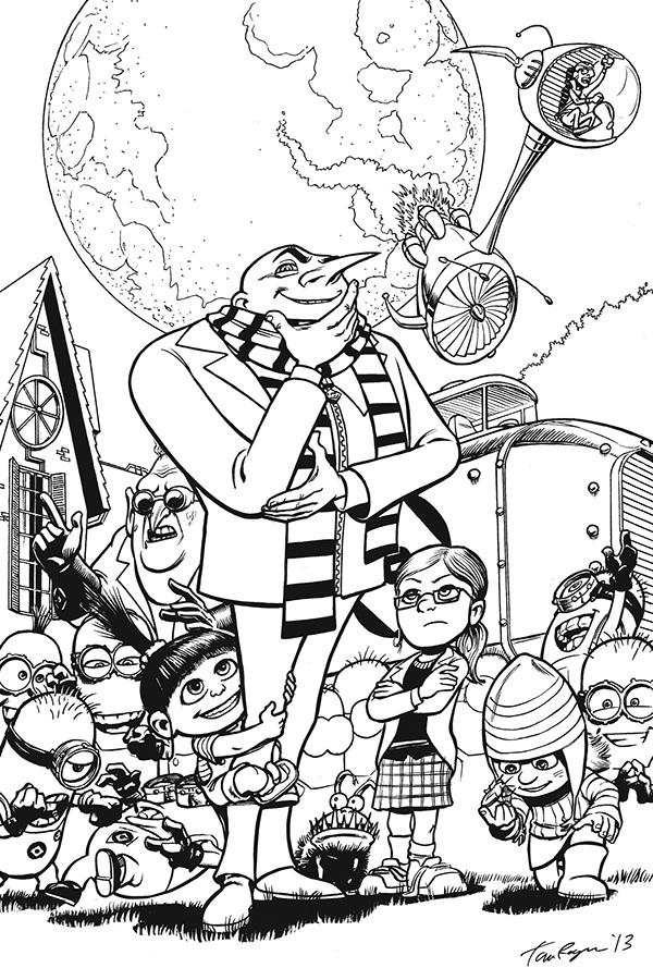 despicable me minion gru minions Dr. Nefario agnes edith Margo vector fan-art moon supervillain