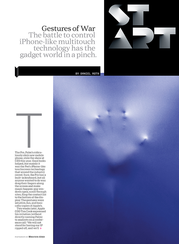 WIRED: Front-of-book \'Start\' Section on Behance