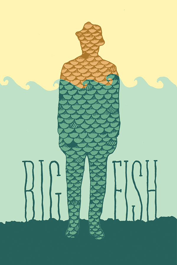 analyzing the characters in big fish An adventure as big as life itself big fish is a very interesting movie the plot jumps around and while we are being told the stories, we.