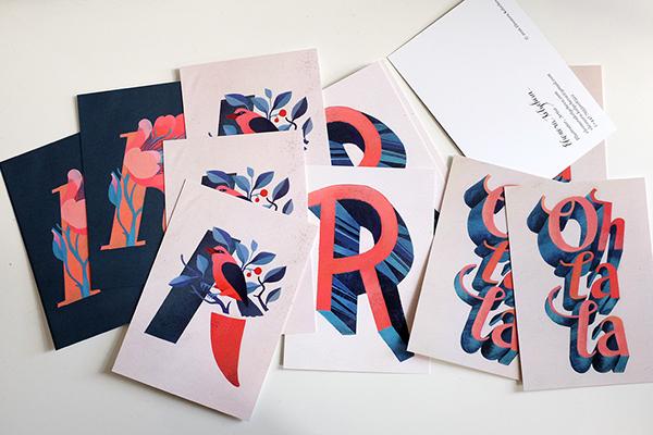 Painted typography by Eleonora Kolycheva