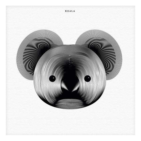 Animals in Moiré | Koala / $18.00
