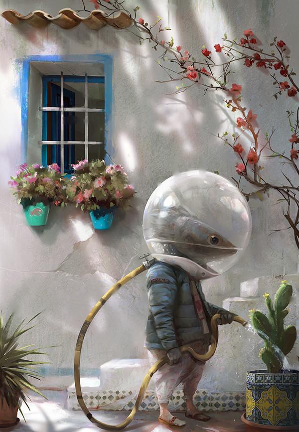 Morning watering by Nacho Yagüe