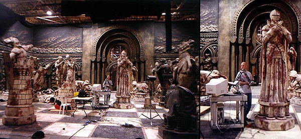 dug from the archives a much younger and no doubt slimmer me scanning the chess pieces on set at leavesden studios