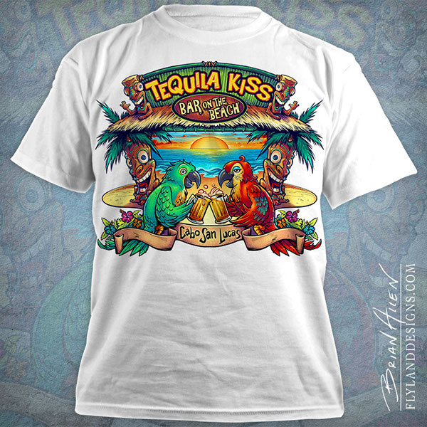 tropical beach bar t shirt design on behance