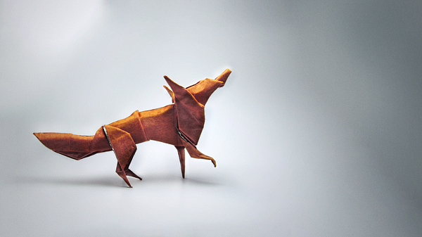 Very Easy Origami Fox | 337x600