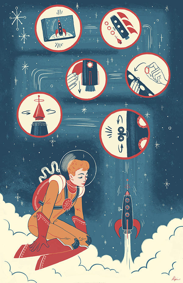 Rocket Ship by Sara Kipin
