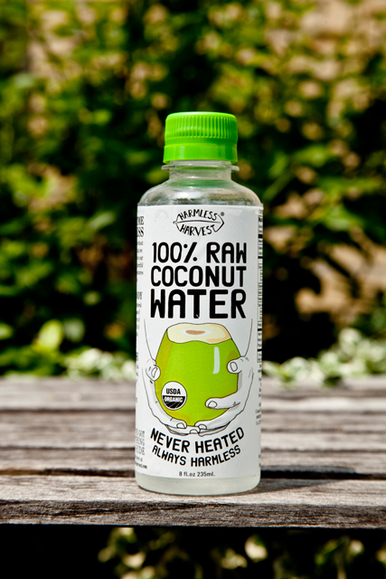 Raw organic coconut water