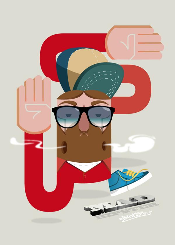 Hipster Poster Design Mad Hipster Poster on Behance