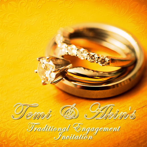 Traditional Engagement Invitation Card On Behance