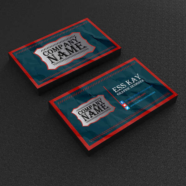 Free Vintage Business Card Template Design On Behance