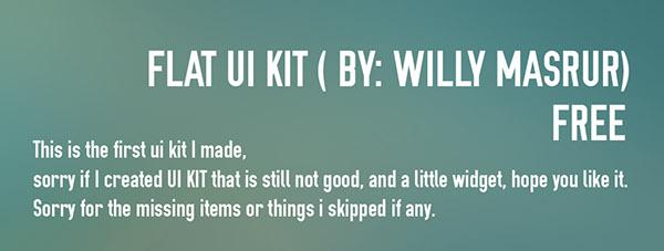 UI ux Webdesign flat psd darkui free webdeveloper kit uikit