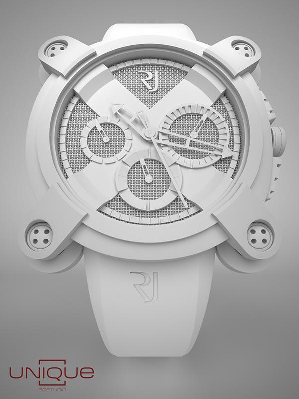 watch romain jerome Product Rendering 3D Still motion 3ds max unique3d
