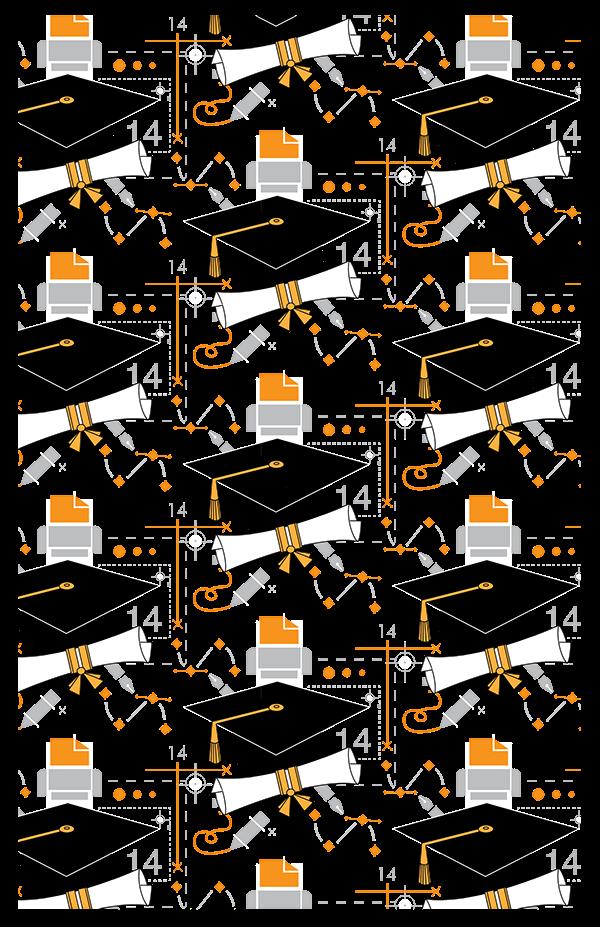 Graphic Designer Graduation Invitation Pattern On Behance