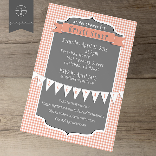 Bridal shower printable invites and recipe cards on behance filmwisefo