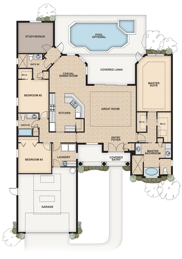 Architectural floor plan renderings on behance Rendering floor plans