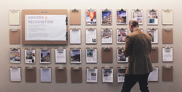 baltimore design school – recognition wall on student show