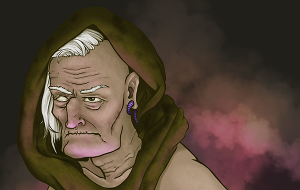 Character Studies | Old Sleazy Healer on Wacom Gallery