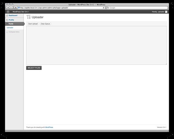 WordPress Uploader Plugin
