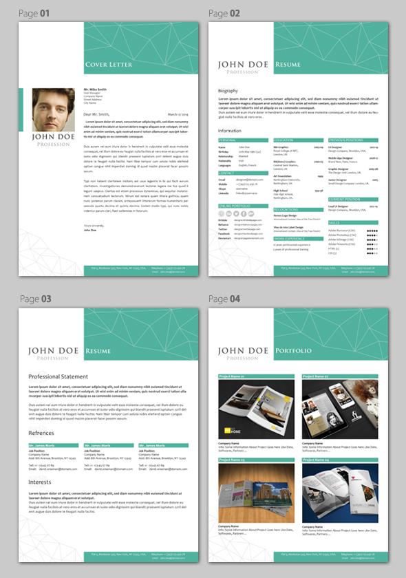 professional resume cv template on behance