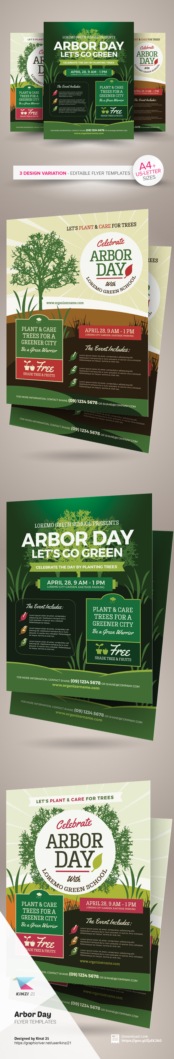 arbor day flyer templates on behance arbor day flyer templates are fully editable design templates created for on graphic river more info of the templates and how to get the sourcefile