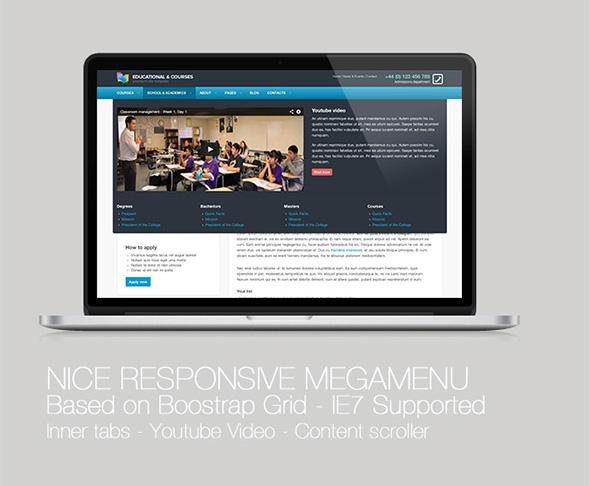 Fully responsive ultra Responsive college courses educational megamenu online responsive megamenu revolution slider Tutorials University wordpress Woocommerce