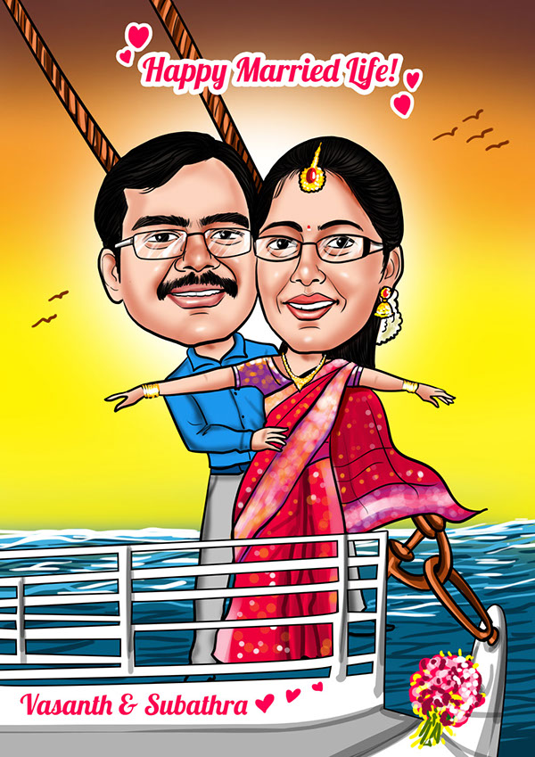 Indian Wedding Caricature Card Designs On Behance