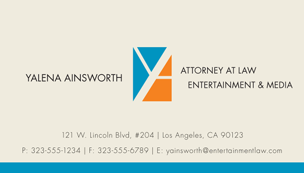Entertainment lawyer business cards on behance colourmoves