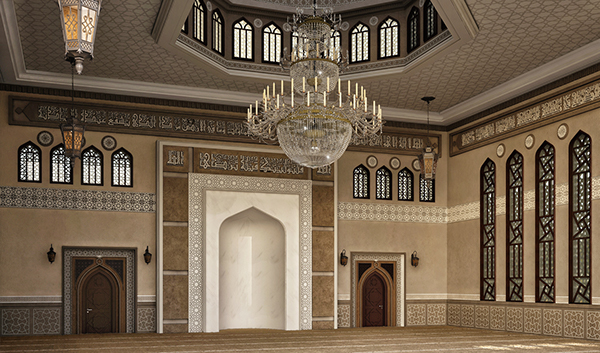 El damam west mosque interior design on behance for Mosque exterior design