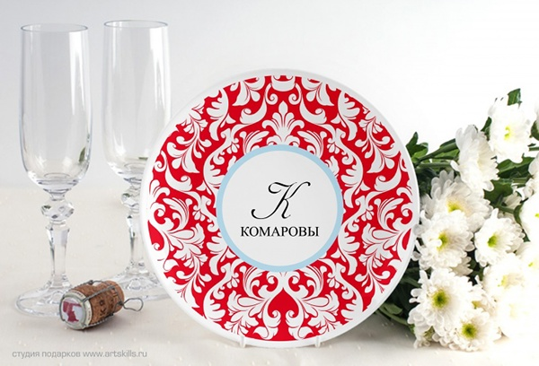 поздравление подарок тарелка сегодняшняя