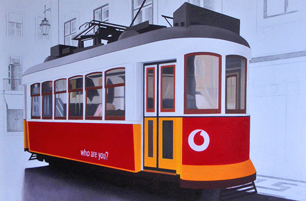 carmen maura pintora painter tranvia tramway oil on canvas Oil on wood