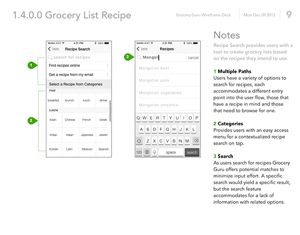 Grocery List App Ux Design On Behance