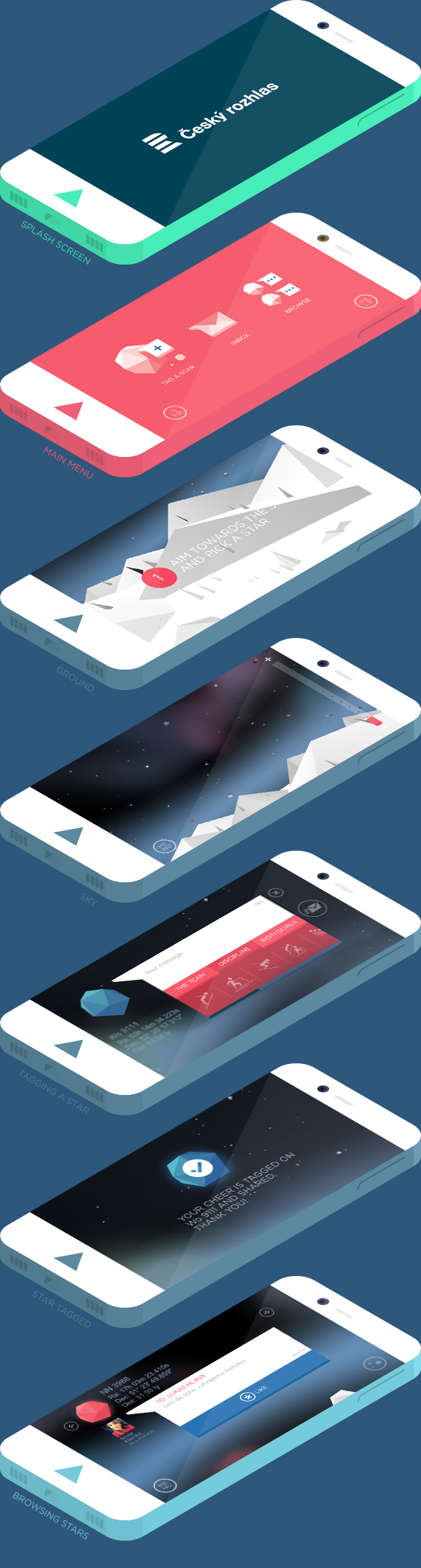 app application ios apple android sochi Olympics stars Czech fans Isometric lowpoly branded tag Generated
