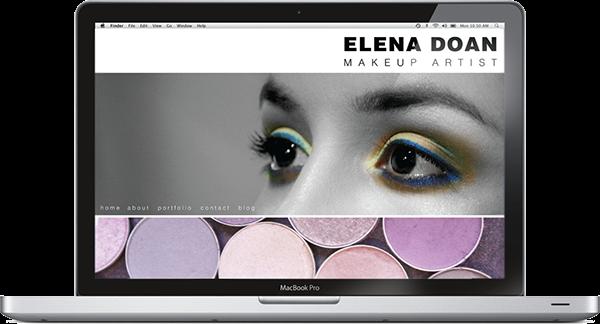 Elena Doan Makeup Artist Website & Photography on Behance