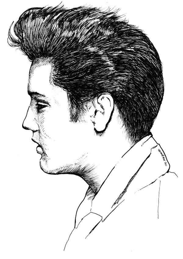Elvis Presley 174 On Pantone Canvas Gallery