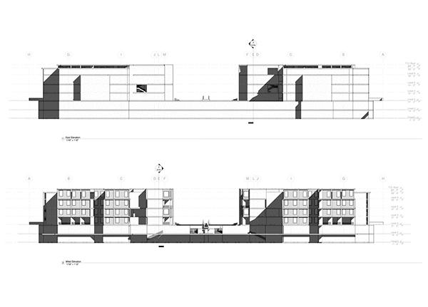 Revit Building Elevation : Study on louis kahn s salk center behance