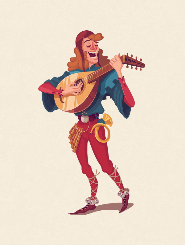 Character Design Behance : The bard monk knight on behance