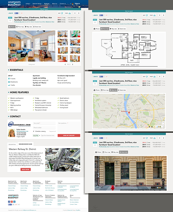 Apartments Website: Apartments Of Budapest Website On Behance